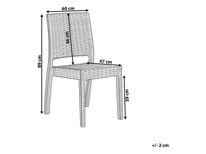 Zestaw 2 krzeseł ogrodowych jasnoszary tworzywo sztuczne sztaplowane na taras do ogrodu Styl Minimalistyczny Krzesła tradycyjne Styl Nowoczesny