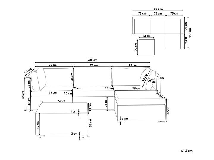 Zestaw mebli ogrodowych szary technorattan 4-osobowy narożnik szare poduchy stolik Tworzywo sztuczne Aluminium Styl Nowoczesny Zestawy wypoczynkowe Zestawy kawowe Zestawy modułowe Kategoria Zestawy mebli ogrodowych