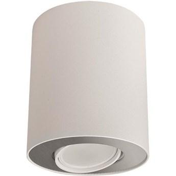 Spot sufitowy tuba SET biały/srebrny śr. 10cm