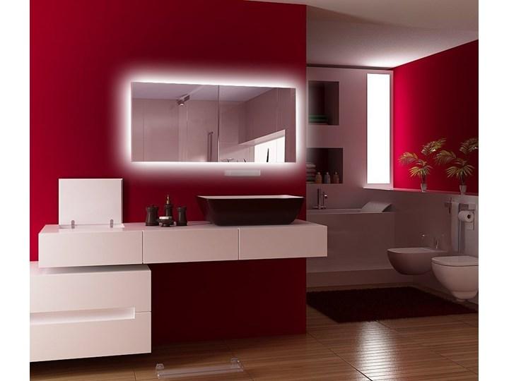 Lustro Shape 04 + Ambilight Ścienne Kolor Srebrny Prostokątne Lustro podświetlane Kategoria Lustra