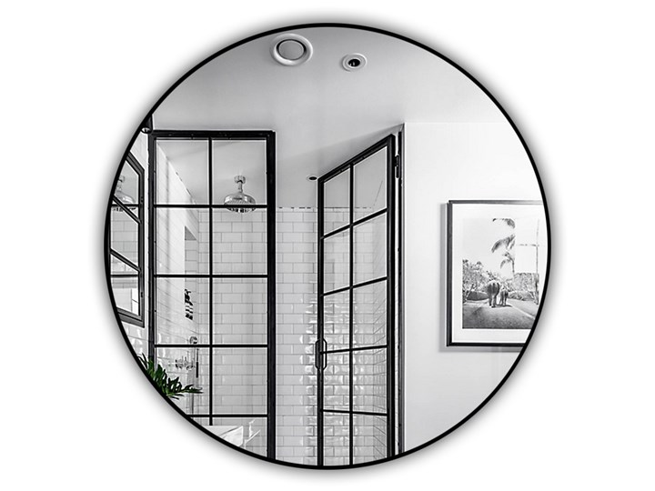Lustro Inox R Black Okrągłe Ścienne Lustro z ramą Kategoria Lustra Kolor Czarny