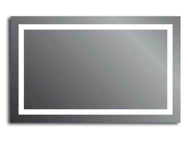 Lustro Livia Lustro podświetlane Prostokątne Ścienne Kolor Srebrny