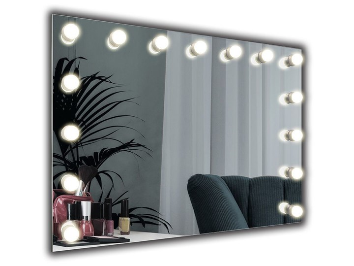 Lustro Hollywood Lustro podświetlane Prostokątne Lusterko kosmetyczne Ścienne Pomieszczenie Łazienka