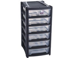 Modułowa szafka organizer na dokumeny 6 szuflad Szary
