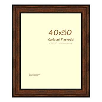 Ramka na zdjęcia Carre 40 x 50 cm orzech drewniana
