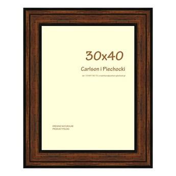 Ramka na zdjęcia Carre 30 x 40 cm orzech drewniana