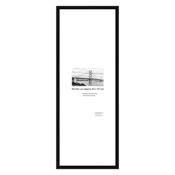 Ramka na zdjęcia Denn 25 x 70 cm czarna drewniana