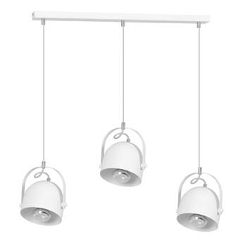 DOBSON 3 WHITE 775/3 nowoczesna lampa wisząca biała