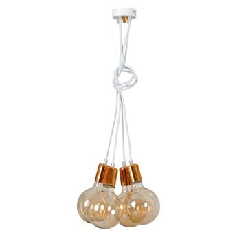 UNIVERSAL 4 WHITE 252/4 lampa wisząca regulowana w stylu industrialnym miedź biała