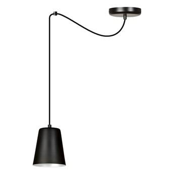 LINK 1 BLACK-WHITE 454/1 wisząca lampa sufitowa klosz czarny biały środek