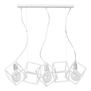 FABIAN 3 WHITE 534/3 Designerska lampa wisząca kwadraty chrom biała