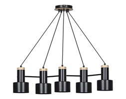 ASTRO 5 BLACK 693/5  lampa wisząca regulowana LOFT skandynawska drewno