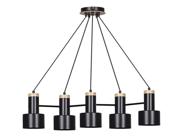 ASTRO 5 BLACK 6935 lampa wisząca regulowana LOFT skandynawska drewno