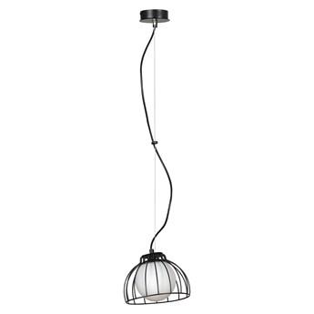 ARIA 1 BLACK 740/1 lampa wisząca regulowana loft druciak biały klosz