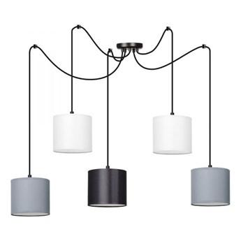 MANGO 5 BL MIX lampa wisząca abażury kolory regulowana wysokość LED