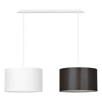 PORTO 2 WH WHITE / BROWN lampa wisząca duże abażury regulowana wysokość kolory