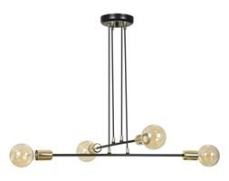 VESIO 4 BLACK 785/4 lampa wisząca loft regulowana złote elementy