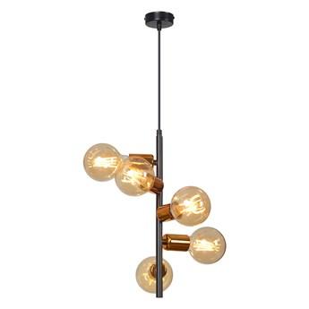 ADALIO 5 BLACK 162/5 industrialna lampa wisząca typu loft miedziane dodatki