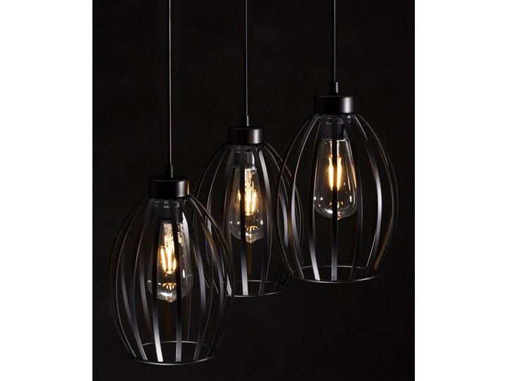 BORIS 3 BLACK PREMIUM 165/3PREM lampa wisząca regulowana czarna loft Metal Lampa druciana Styl Industrialny Kategoria Lampy wiszące