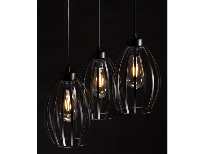 BORIS 3 BLACK PREMIUM 165/3PREM lampa wisząca regulowana czarna loft