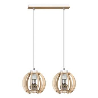 DILMA 2 NATURAL 398/2 lampa wisząca w stylu skandynawskim regulowana drewno