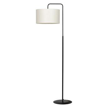 TRAPO LP1 BLACK / ECRU 570/4 lampa podłogowa czarna duży beżowy abażur