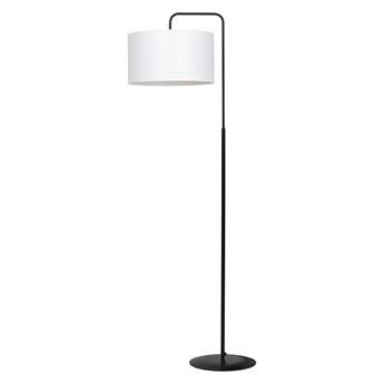 TRAPO LP1 BLACK / WHITE 570/2 lampa podłogowa czarna duży biały abażur