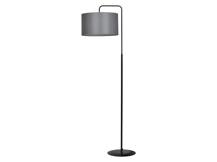 TRAPO LP1 BLACK / GRAY 570/3 lampa podłogowa czarna duży szary abażur Lampa inspirowana Metal Lampa LED Metal Metal