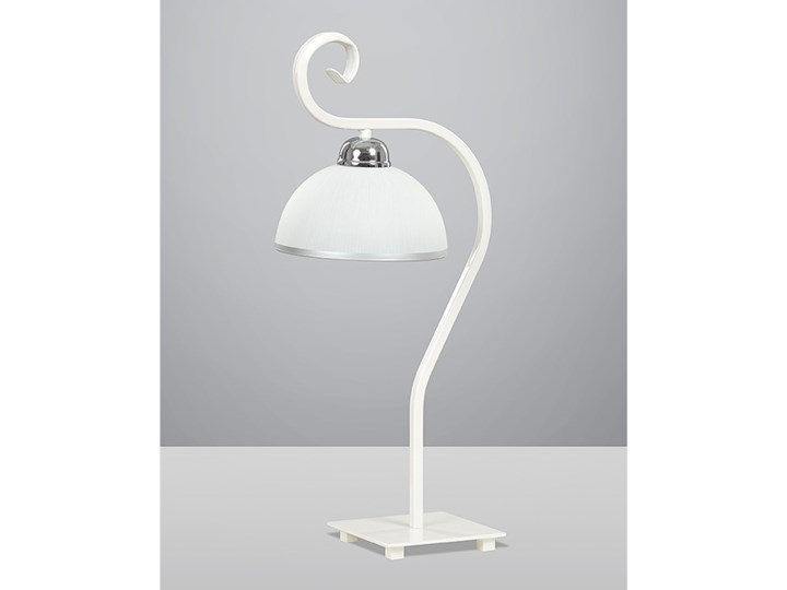 WIVARA LN1 WHITE 840/LN1 klasyczna lampka nocna szklany biały klosz dużo światła
