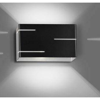 LASER BLACK 824/2 nowoczesny kinkiet ścienny LED czarny