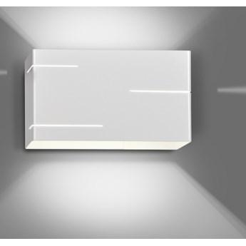 LASER WHITE 824/1 nowoczesny kinkiet ścienny LED biały