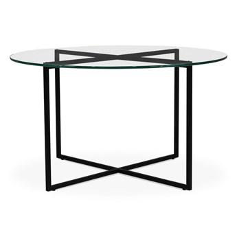 Stolik Hex  czarny mat szkło transparentne