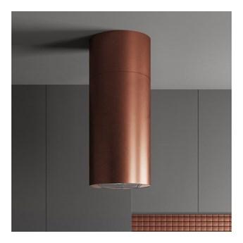 Okap wyspowy Cylindro Miedź 40 cm