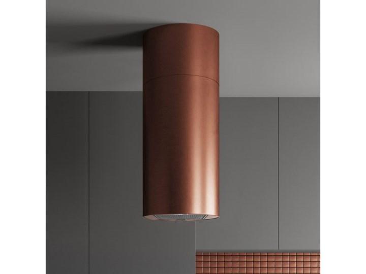 Okap wyspowy Cylindro Miedź 40 cm Kolor Brązowy