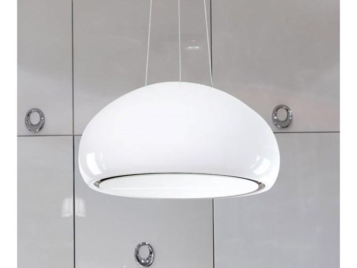 Okap wyspowy Ceramic White 60 cm Kolor Biały