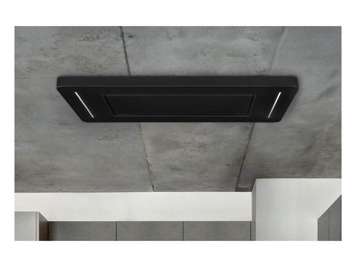 Okap sufitowy Decor CR Black 90 cm Szerokość 96 cm Okap wyspowy Kolor Czarny