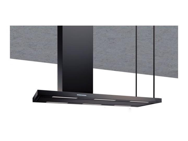 Okap wyspowy Metropolis Black Matt 176 cm Szerokość 146 cm Kolor Czarny