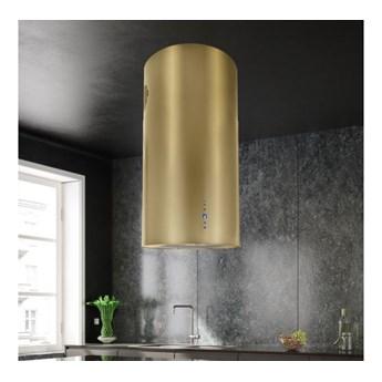 Okap wyspowy Cylindro Złoty 40 cm