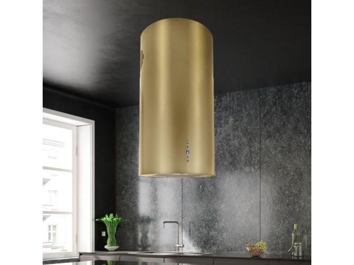Okap wyspowy Cylindro Złoty 40 cm Sterowanie Elektroniczne Kategoria Okapy