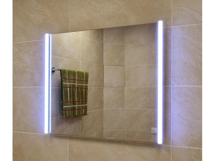 Lustro LED illuminated LED Tube 02 Kolor Srebrny Ścienne Prostokątne Lustro podświetlane Kategoria Lustra