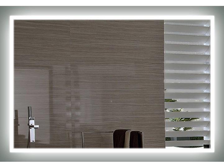 Lustro LED Valentina Edge Ścienne Lustro podświetlane Styl Nowoczesny Prostokątne Kolor Srebrny