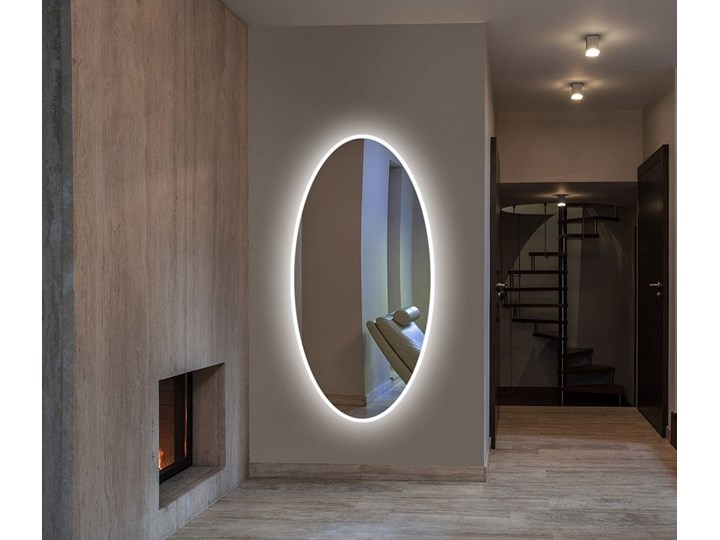 Lustro LED Rina Edge Ścienne Lustro podświetlane Owalne Kategoria Lustra