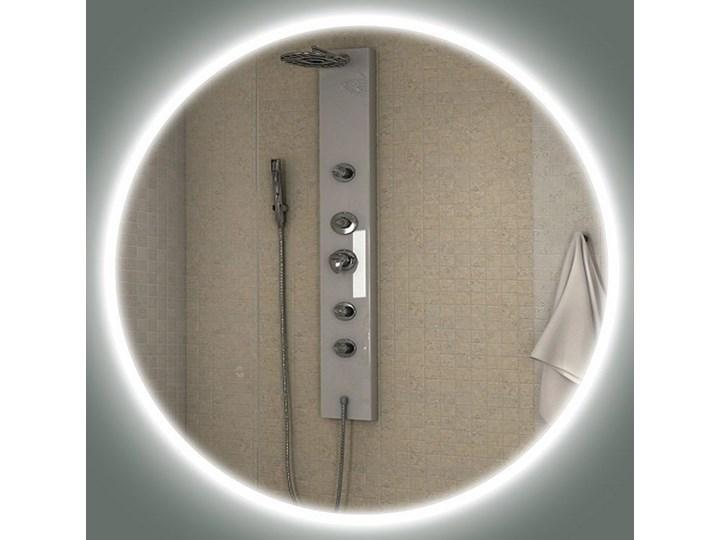Lustro LED Carlotta Edge Kategoria Lustra Ścienne Okrągłe Lustro podświetlane Kolor Srebrny