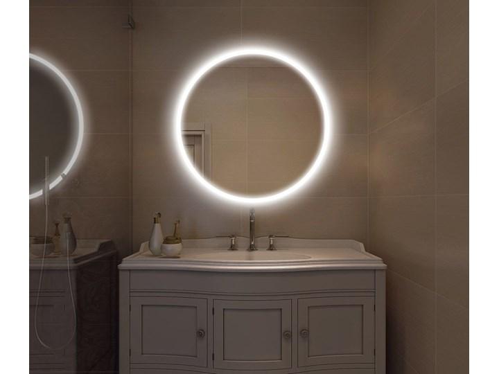 Lustro LED Carlotta Edge Lustro podświetlane Okrągłe Ścienne Kategoria Lustra Kolor Srebrny