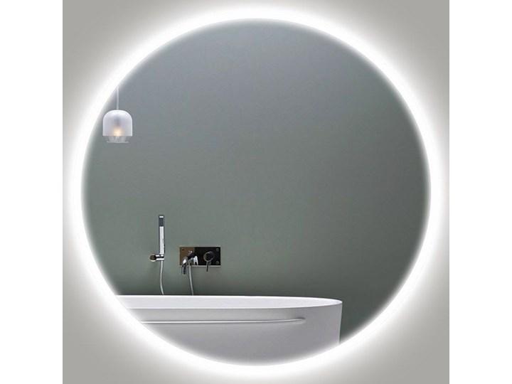 Lustro LED Carlotta Edge Lustro podświetlane Ścienne Okrągłe Styl Nowoczesny