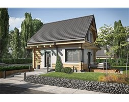 Orlean 7 projekt domu letniskowego z bali drewnianych