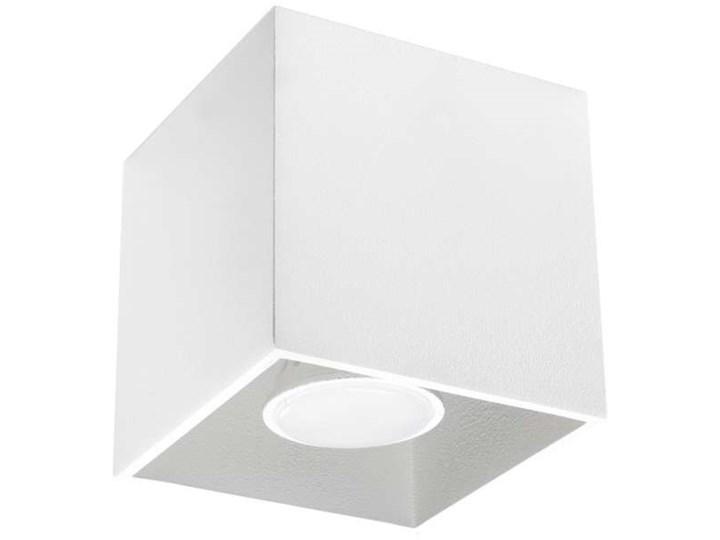 Downlight LAMPA sufitowa SOL SL.027 metalowa OPRAWA kostka cube biała