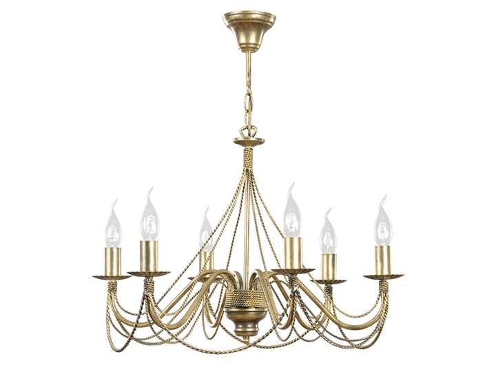 TORI 6 GOLD 170/6 klasyczny żyrandol świecznikowy Lampa LED Metal Lampa z abażurem Ilość źródeł światła 6 źródeł