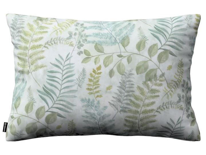 Dekoria Poszewka Kinga na poduszkę prostokątną, zielone gałązki na szaro pastelowym tle, 60 × 40 cm, Pastel Forest