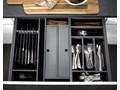 Flex Basic wkład do szuflad zestaw 523 L szary Organizer do szuflady